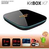 KitBox K7 Android TV Box S905 2GB 16GB kodi16.1 Dual WIFI Bluetooth 4.0 Streaming Media Player