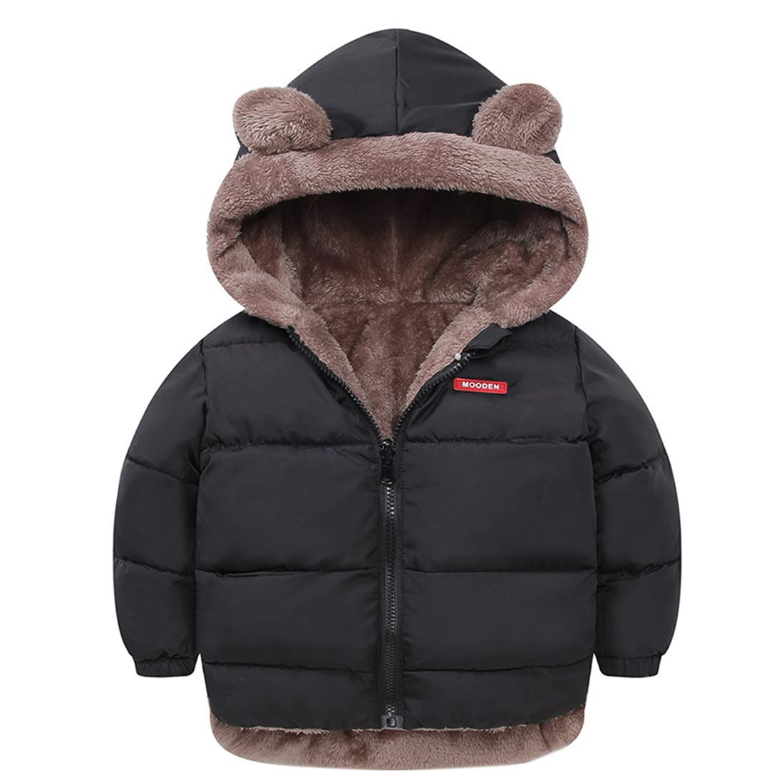 KELUOSI Warm Coat for 1-6 Years Old Kids Toddler Baby Boys Girls Thick Coat Padded Winter Jacket Clothes Outdoor