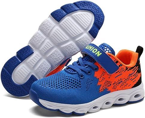 Zapatos para Niños/Niñas Knit Spring Fall Zapatillas de Deporte al Aire Libre Zapatos de Running con Confort Infantil Cinta Mágica Low-Top (Color : UN, Tamaño : 34): Amazon.es: Zapatos y complementos