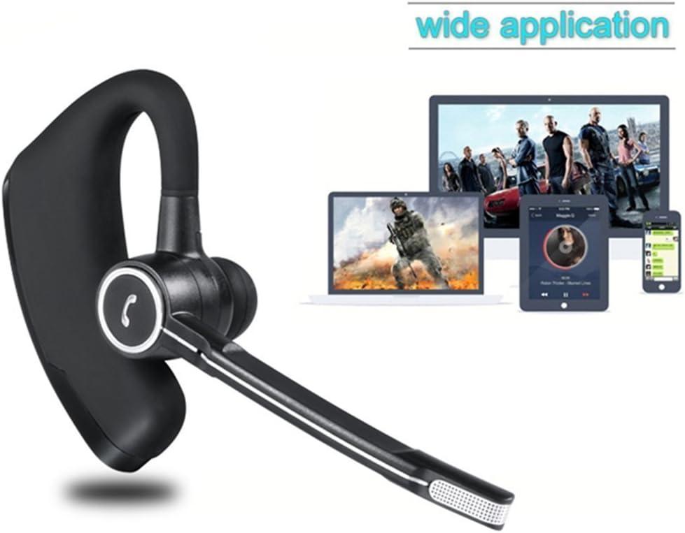 Auriculares bluetooth, auriculares inalámbricos estéreo HD para negocios, ligeros V4.1 Bluetooth Auriculares con reducción de ruido, sin manos con micrófono para oficina / capacitación / conductor