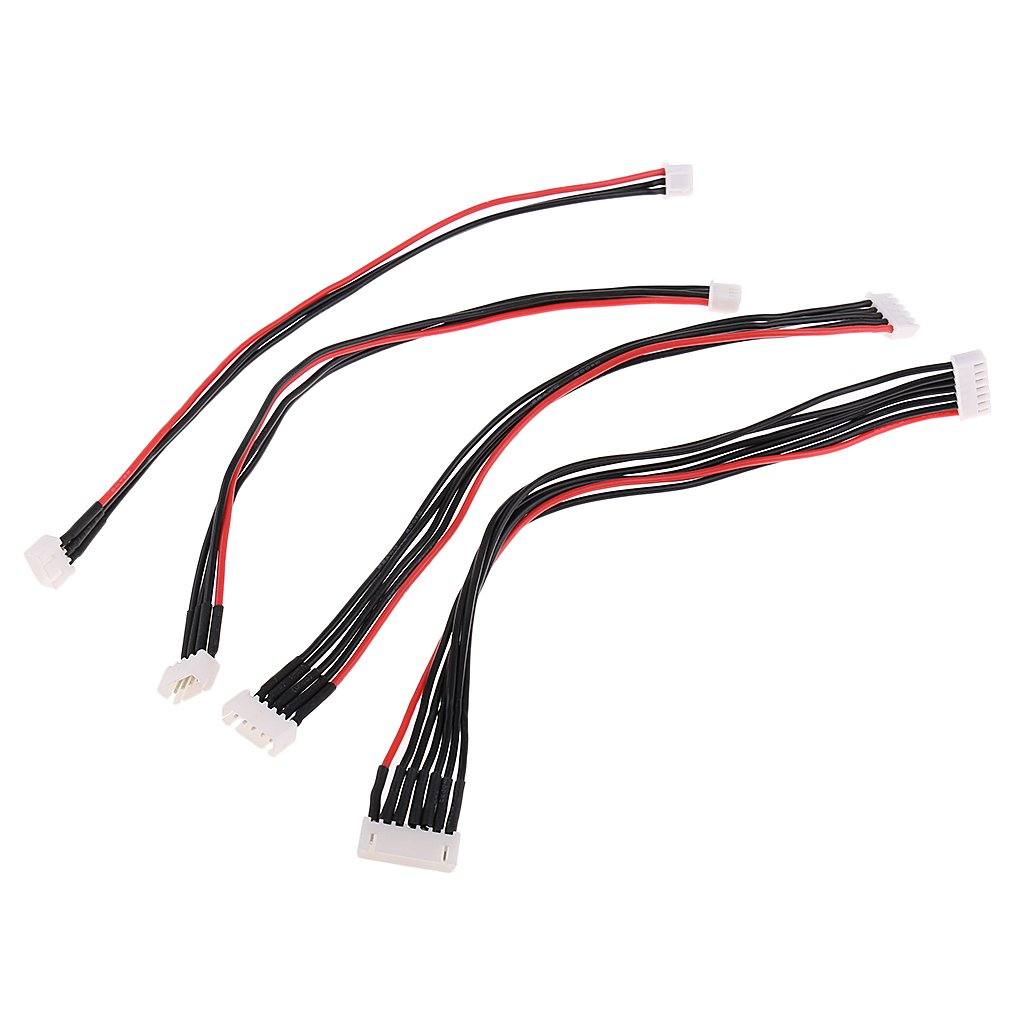 Baoblaze 4pc 2S 3S 4S 6S 200mm//7.87 Lipo Balance Wire Extension Cable for RC Drone Battery Charger DIY
