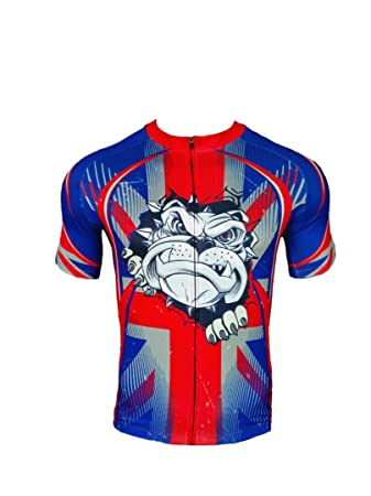 BSK BRITISH BULLDOG Union Jack Flag Great Britain Short Sleeve Cycling  Jersey Cycle Shirt Top ( 707449173