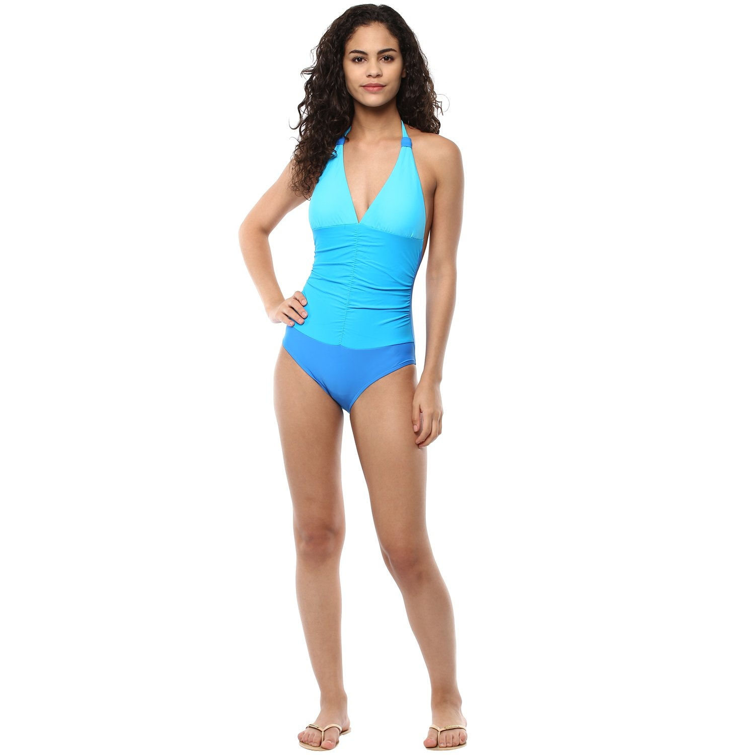 41f99ca3b6140 PrettySecrets Women s One Piece (BSS17SWM18-B Blue M)  Amazon.in  Clothing    Accessories