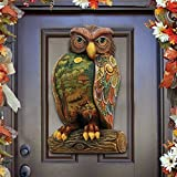 G.DeBrekht Halloween Owl Wooden Indoor/Outdoor Wooden Fall Halloween Hanging Door Decorations/Wall Sign, For Home, School, Office #8158912H