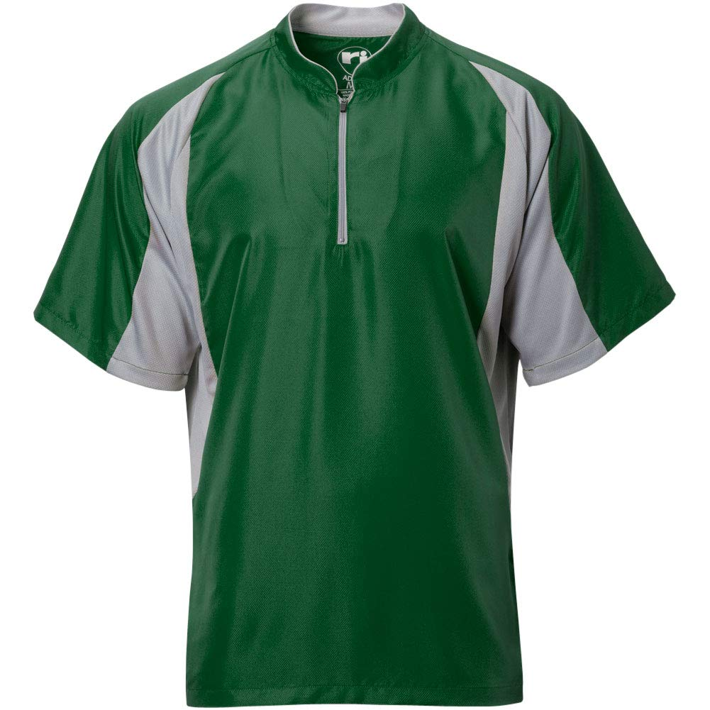 Wire2wire Mens Performance Short Sleeve Cage Jacket Green/Grey S by Wire2wire