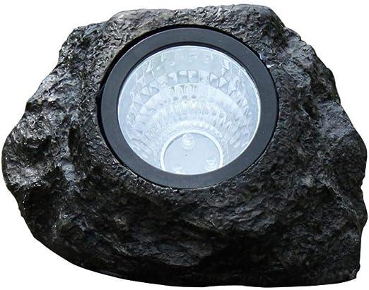 Outdoor Garden LED Solar Decorative Rock Stone Spot Lights Lamp Yard