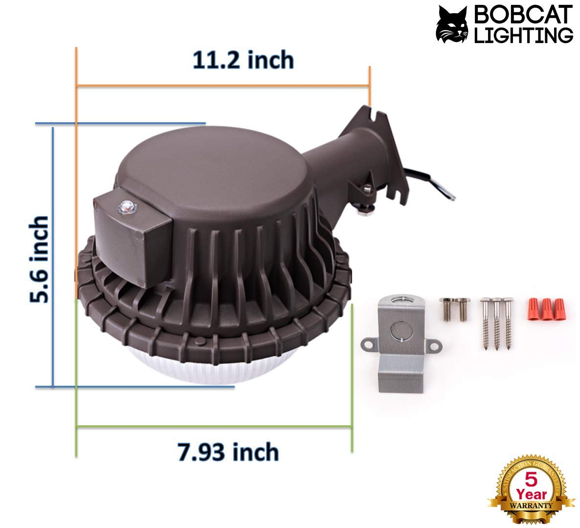 Led Area Light 80 Watts Dusk To Dawn Photocell Included Perfect Pole Mounted Security Wiring Diagram Yard Or Barn 9500 Lumens 5000k Ul Listed Dlc 700w Incandescent 200w Hid