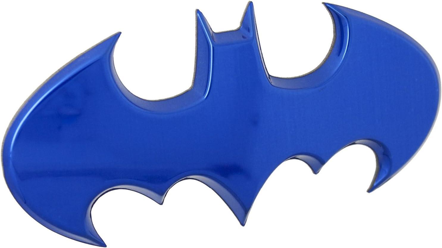 Fan Emblems Batman 3D Car Badge - 1989 Batwing Logo (Blue Chrome)