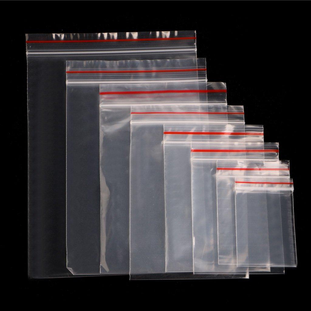 Xuniu 100 Piezas claras Bolsas de plá stico, Bolsas de Almacenamiento de Sello de Prensa para la joyerí a, papelerí a de Oficina 10x15 cm Bolsas de Almacenamiento de Sello de Prensa para la joyería papelería de Oficina 10x15 cm