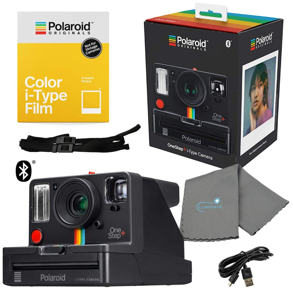 Polaroid 9010 OneStep+ i-Type Instant Camera Bundle with a Bundle with a Color i-Type Film Pack 4668 (8 Instant Photos) and a Lumintrail Cleaning Cloth by Polaroid