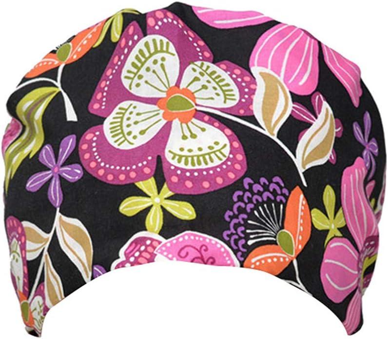 Estilo 1 PRETYZOOM Gorras de Algod/ón para El Sudor Corbata Ajustable Gorro Bouffant Sombrero de Ducha Gorro de Ba/ño para M/édico Enfermera Chef Suministros de Trabajo