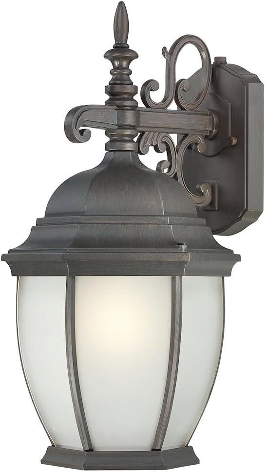 Thomas Lighting PL922963 Covington 1-Light Outdoor Wall Lantern in Painted Bronze