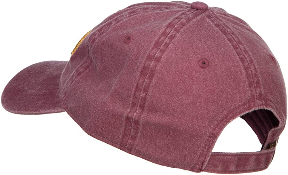 e4Hats.com 3D Captain Embroidered Washed Buckle Cap