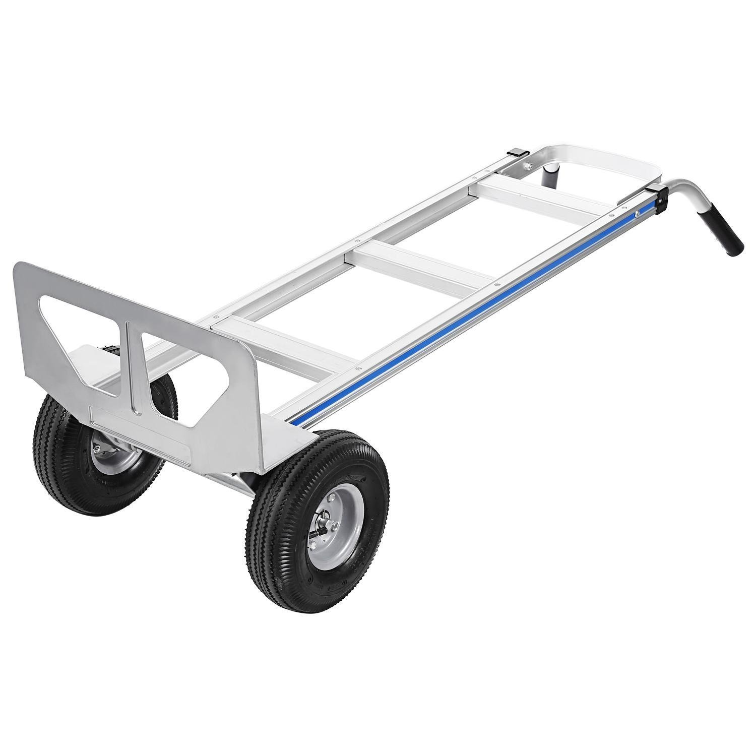 Ferty Aluminum Hand Trucks 500LBS With 2 Pneumatic Tires Dolly, Double Pistol Grip Handle Heavy Duty Trolley/Cart With 2 Wrench by Ferty (Image #2)