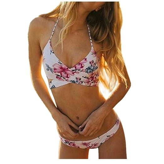 OVERMAL Push-up Padded Bra Swimsuit Bathing Sexy Women Floral Bikini Set Swimwear