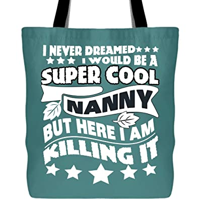 Amazon.com: I Am A Cool Nanny Bolsas con asas largas y ...