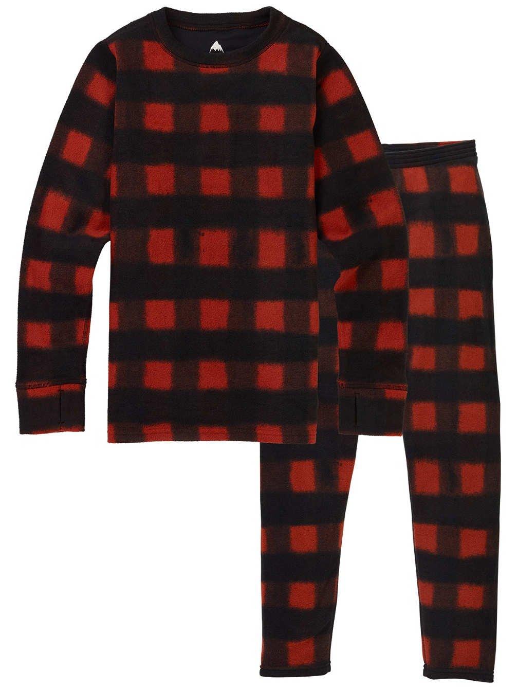 Burton Youth 1st Layer Fleece Top and Bottom Base Layer Set (Spray Buffalo, XL (20))