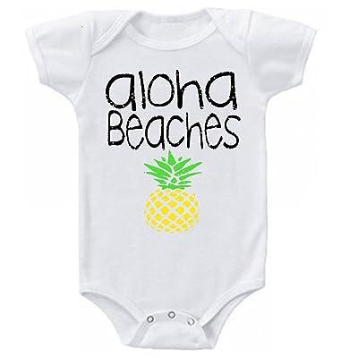 Dazzle Studios Aloha Beaches Funny Baby Onesie Bodysuit