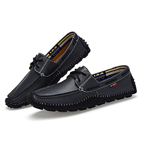 Nuevo Mens Mocasines Casuales de Cuero Mocasines Slip & Holgazanes Zapatos de Conducción de Gran Tamaño: Amazon.es: Zapatos y complementos
