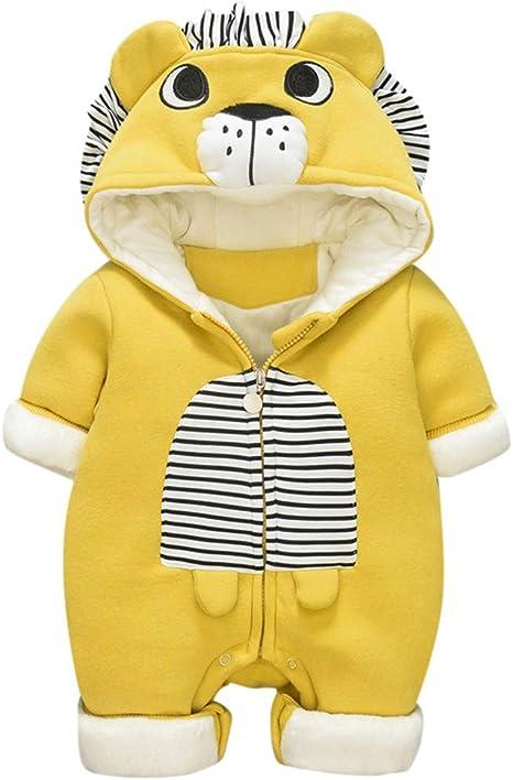 Newborn Baby Boys Girls Hooded Hoodies Romper Jumpsuit Playsuit Winter Outfits