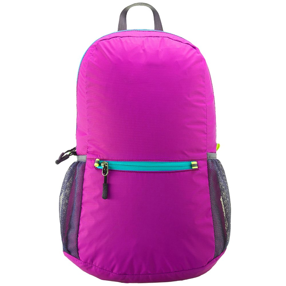AI000832_5 Homdox® Foldable Packable Handy Lightweight Travelling Backpack Hiking Daypack Cycling School Air Travelling Carry on Backpacking for Men and Women Rose Red