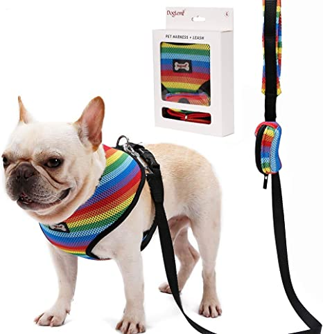 Harness Rainbow Marble Chest Harness Dog Chest Harness | Dog Harness Soft Harness Dog accessories