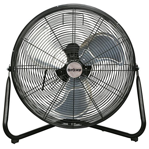 Hurricane Wall | Floor Fan - 20 Inch | Pro Series | High Velocity | Heavy Duty Metal Orbital Wall | Floor Fan for Industrial, Commercial, Residential, and Greenhouse Use - ETL Listed, Black