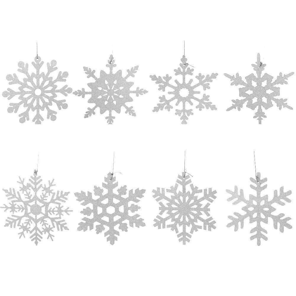 SUNBEAUTY Noel Decoration Nouvel an Chambre Vert Rouge Blanc Kit avec Flocon de Neige Gui Papier D/éco