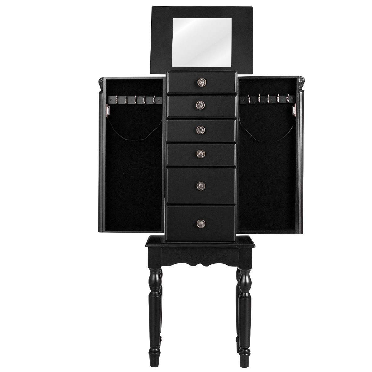 USA_BEST_SELLER Armoire Storage Box Chest Standing Cabinet Jewelry Holder Organizer