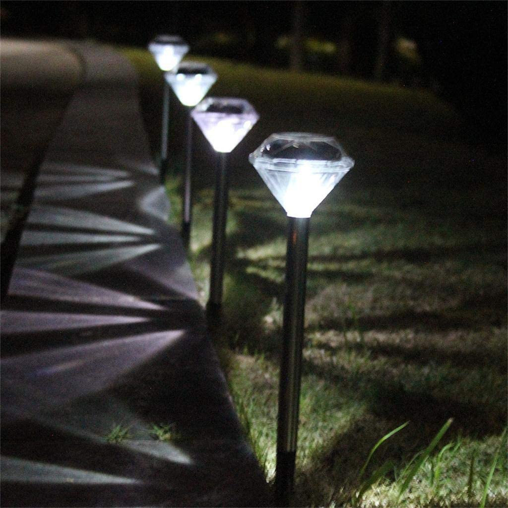 Hollow Square LED Solar Buried Lights in The Ground Lamp Outdoor Path Way Garden Outdoor Waterproof Decorative Lamp 4PCS Color White