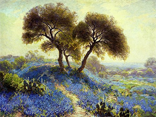The Museum Outlet - A Spring Morning, Bluebonnets, San Antonio, 1913 - Poster Print Online Buy (60 X 80 - Shopping Outlets Antonio San