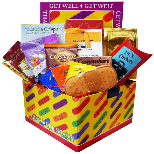 Get Well Soon Bandaid Care Package Gift Box (Cheer Gift Basket Ideas)