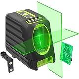 Huepar 2ライン グリーン レーザー墨出し器 クロスラインレーザー 緑色 レーザー 自動水平調整機能 高輝度 ライン出射角130°&150 ミニ型
