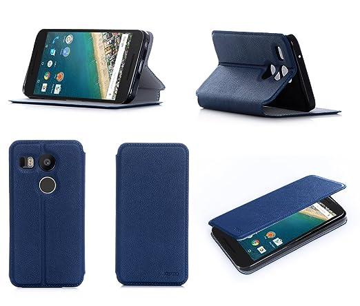8 opinioni per Blu Custodia Pelle Ultra Slim per LG Google Nexus 5X 2015 4G / LTE smartphone-