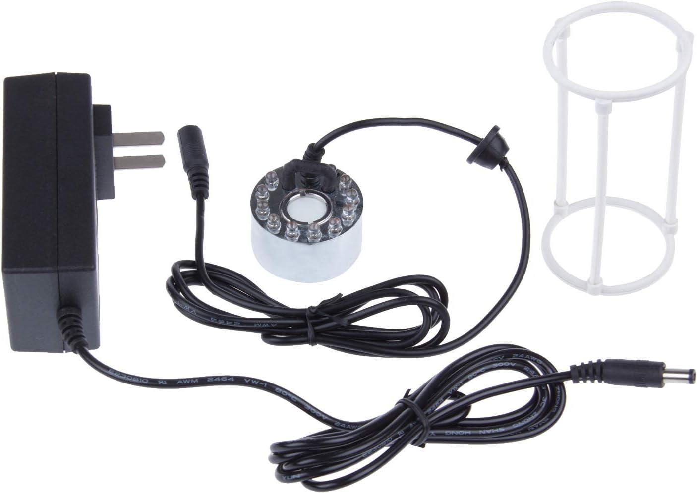 LemonBest New 24V 12 LED Ultrasonic Fog Mist Maker Fogger Atomizer Air Humidifier+Charger