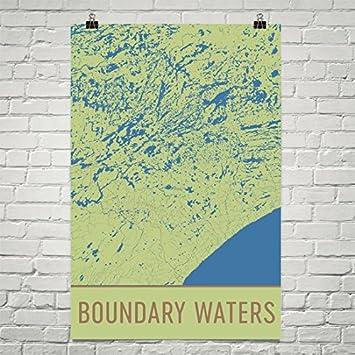 Amazon.com: Boundary Waters Poster, Boundary Waters Art Print ...