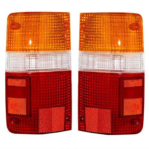 Taillights Tail Lamps Lens Driver and Passenger Replacements for 89-95 Toyota Pickup Truck 8155189166 ()