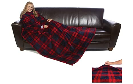Coperta Con Le Maniche Qvc.The Ultimate Slanket L Originale Coperta Con Maniche Plaid