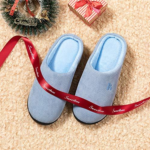 Invernale Pantofole Foam Donna Uomo Chiaro Confortevole Per Casa Blu Memory Madaleno Da Antiscivolo E Ciabatte 1Hdq17