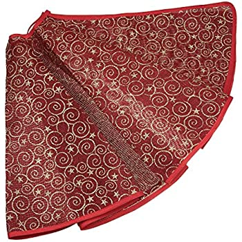 dark red and gold burlap christmas tree skirt by clever creations gold spirals and stars