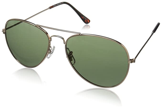 ae34d1d94d Amazon.com  Original Classic Metal Standard Aviator Sunglasses - Nickel  Plated Frame  Clothing