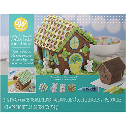 Wilton Ready-to-Decorate Bunny Hutch Chocolate Cookie Kit 2104-3001 (Cookie House Kit)