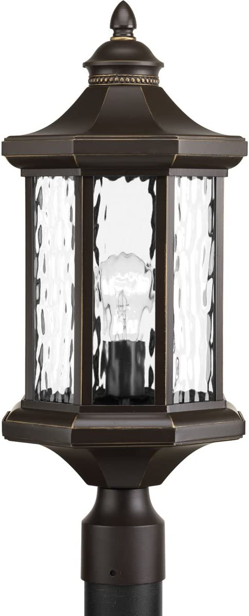 Progress Lighting P6429-20 Traditional Classic 1-100W Med Post Lantern, Antique Bronze