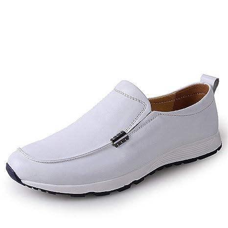 Oudan Mocasines para Hombre Zapatos, Mocasines de conducción para Hombres Mocasines Bare Vamp Botas Casuales