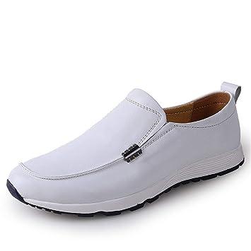 HhGold Mocasines para Hombre Zapatos, Mocasines de conducción para Hombres Mocasines Bare Vamp Botas Casuales