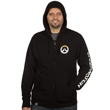 JINX Overwatch Hombres del Logo con Cremallera Sudadera con Capucha - Negro -: Amazon.es: Ropa y accesorios