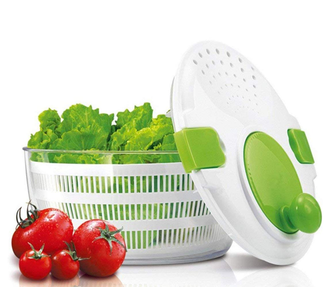 DoubleBlack Salad Spinner Washer Strainer and Dryer for Vegetables and Lettuce 4 Litre Large