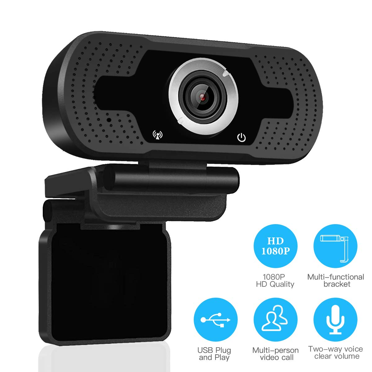 LARMTEK 1080P Full HD Webcam,Computer Laptop Camera for Conference and Video Call, Pro Stream Webcam with Plug and Play Video Calling by LarmTek