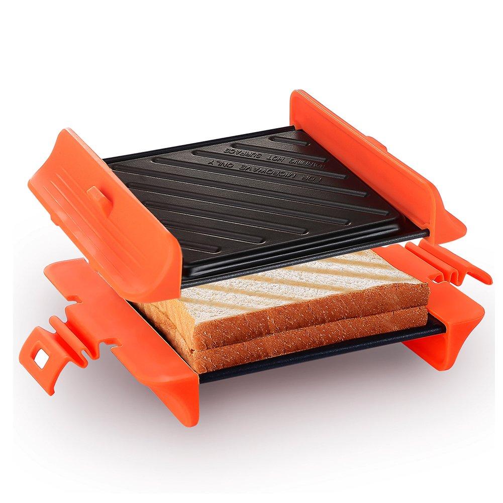 Microwave Sandwich Maker |  Panini Press Sandwich Maker | Microwave Grill Tray Crisper | Grill Fast and Dishwasher Safe