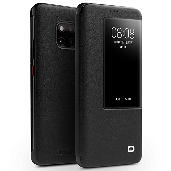 newest 5ef7c 565af Amazon.com: Huawei Mate 20 Pro Case, QIALINO Slim Folio Textured ...